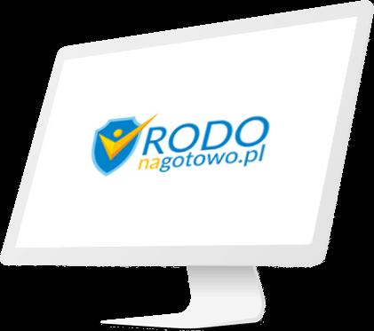 monitor z logo RODO na gotwo